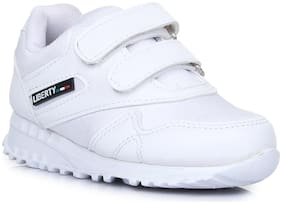 Liberty White Boys School Shoes