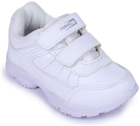 Force 10 By Liberty Kids White School Shoes