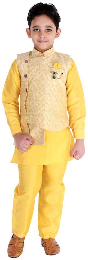Yellow Kurta Pyjama Set
