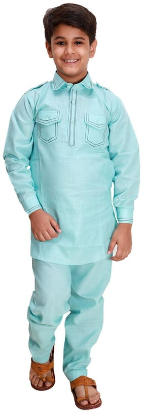 Blue Kurta Pyjama Set
