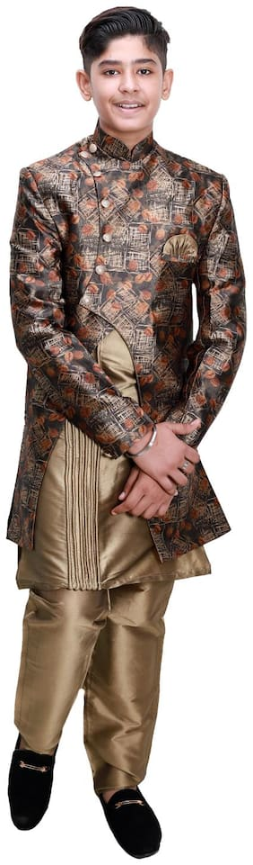 Brown;Gold Suit
