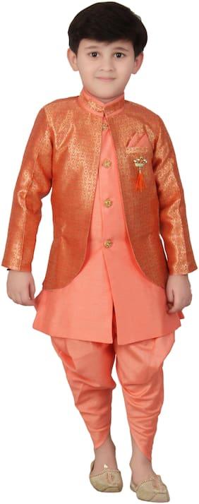 Pink Dhoti;Sherwani