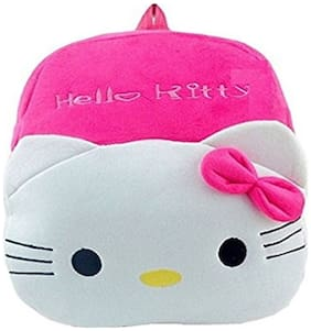 Frantic cute & Lovely Best Quality School Bag For Kids - Age 2 to 5 (Pink Kitty)