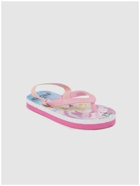 Frozen Pink Girls Slippers