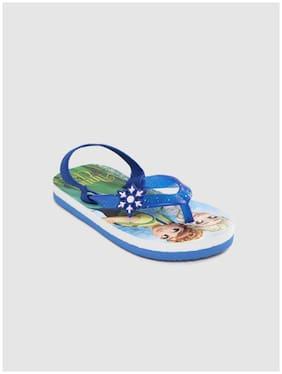 Frozen Blue Girls Slippers