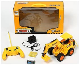 Full Functional Remote Control Rechargeable Construction JCB Truck  (Multicolor)
