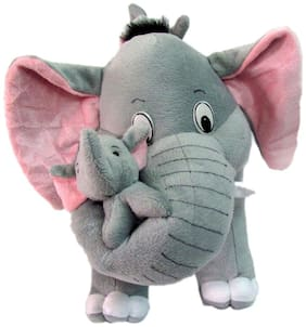 Full Moon Tickles Mother Elephant With 2 Babies Soft Toy - 38 Cm