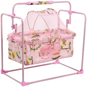 Fun Baby Cozy New Born Baby Cradle/Baby jhula/Baby palna/Crib / Bassinet with Mosquito Net