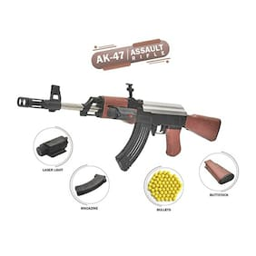 Fun Run AK 47 Gun Toy; 500 BB Bullet Gun - Big Size Gun Toy for Boys(AK47 + BB Bullet)