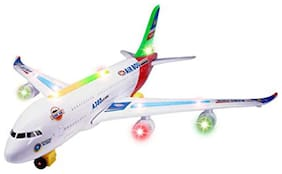 FUN RUN Baby Brand, Baby Airplane With Musical Flashing Light Automatic Airplane Electric Plane, Bump N Go Feature Aeroplane (747) For Your Kids FR-ET-84