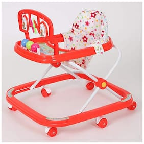 FUN RUN Baby Brand, Baby Beautiful 2-in-1 Function Height Adjustable Musical Walker For Your Kids FR-BW-34