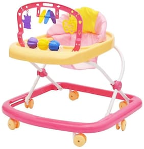 FUN RUN Baby Brand, Baby Beautiful 2-in-1 Function Height Adjustable Musical Walker For Your Kids FR-BW-32