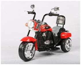 FUN RUN BABY BRAND, Baby Battery Operated Bullet Super Look Bike Red Color With Musical And Light For Your Kids FR-BOB-41