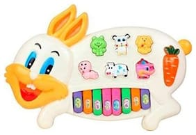 FUN RUN Baby Brand, Baby Rabbit Piano With Music & Flashing Lights & Animal Sounds For Your Kids FR-ET-175