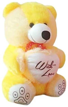FUN RUN Yellow Teddy Bear - 45 cm