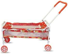 FUN RUN BABY BRAND, BABY SWING CRADLE.. CUM CRIB WITH REMOVABLE MOSQUITO NET WITH IRON PIPE 4 WHEEL BASSINETS AND CRADLES (JHULLA AND PALNA) FR-JP-39