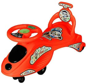 FUN RUN BABY BRAND, Baby Cartoon Character Swing Magic Car With Free Wheels  With Back Support With Musical Light For Your Kids FR-MC-32