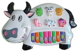 FUN RUN Baby Brand, Baby Cow Piano With Music & Flashing Lights & Animal Sounds For Your Kids FR-ET-183