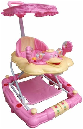 FUN RUN Baby Brand, Baby Beautiful Duck Shape 6-in-1 Function Walker With Height Adjustable ; Music ; Light And Rattles For Your Kids FR-BW-75