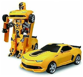 FUN RUN Baby Brand, Baby 2 in 1 Robot To Car Converting Transformer Toy With Lights and Music For Your Kids FR-ET-255