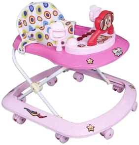 FUN RUN Baby Brand, Baby Beautiful 8 Wheels Jolly 3-in-1 Function Walker With Height Adjustable ; Music ; Light And Rattles For Your Kids FR-BW-51