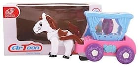 FUN RUN Baby Brand, Baby Horse Flash Carriage With Flashing Light Driving & Pony On The Run , Glaring Rotating Light And Dynamic Music For Your Kids  FR-ET-208