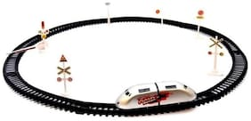FUN RUN Baby Brand, Baby High Speed Metro Battery Operated Train With Round Track & Sign Boards For Your Kids FR-ET-294