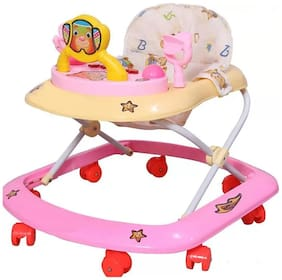 FUN RUN Baby Brand, Baby Beautiful 8 Wheels Jolly 3-in-1 Function Walker With Height Adjustable ; Music ; Light And Rattles For Your Kids FR-BW-48