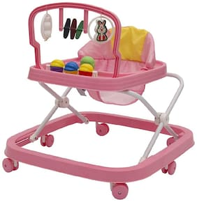 FUN RUN Baby Brand, Baby Beautiful 2-in-1 Function Height Adjustable Musical Walker For Your Kids FR-BW-31
