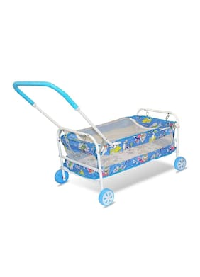 FUN RUN BABY BRAND, BABY SWING CRADLE.. CUM CRIB WITH REMOVABLE MOSQUITO NET WITH IRON PIPE 4 WHEEL BASSINETS AND CRADLES (JHULLA AND PALNA) FR-JP-20