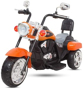 FUN RUN BABY BRAND, Baby Battery Operated Bullet Super Look Bike Orange Color With Musical And Light For Your Kids FR-BOB-42