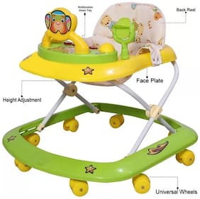 FUN RUN Baby Brand, Baby Beautiful 8 Wheels Jolly 3-in-1 Function Walker With Height Adjustable ; Music ; Light And Rattles  For Your Kids FR-BW-47
