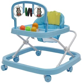FUN RUN Baby Brand, Baby Beautiful 2-in-1 Function Height Adjustable Musical Walker For Your Kids FR-BW-29