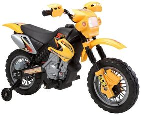 FUN RUN BABY, Baby Battery Operated Scrambler Bike Yellow Color With Air Tube Wheels Original Radio System Super Racer Bike For Your Kids FR-BOB-140