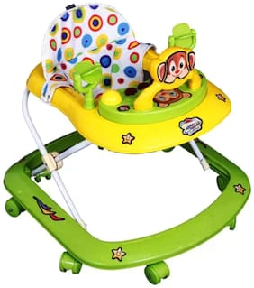 FUN RUN Baby Brand, Baby Beautiful 8 Wheels Jolly 3-in-1 Function Walker With Height Adjustable ; Music ; Light And Rattles  For Your Kids FR-BW-46