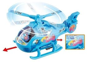 FUN RUN Baby Brand, Baby Rotating Musical  With LED Lights Aircraft Bump & Go Action Battery Operated Helicopter For Your Kids FR-ET-94