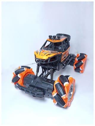 Fun Run Universal Drift Climbing Car Rock Crawler King 1:16 Scale Off-Road High-Speed Racing car;Lighting Electric Remote Control Car Toy for Kids