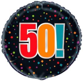 Funcart 18inch Birthday Cheer 50 Foil Balloon