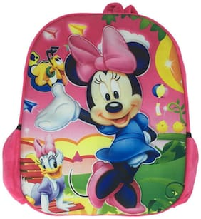 Funcart 3D Minnie Mouse Pink School backpack bag