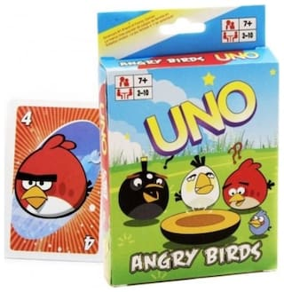 Funcart Angry Birds Uno playing cards for kids