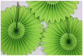 Funcart Apple Green Paper Fan 16 Inch