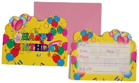 Funcart Balloons Theme Invitation