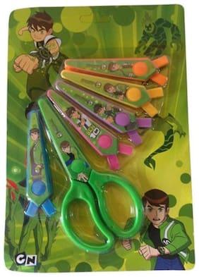 Funcart Ben 10 Fancy Scissors Set ( SET OF 6 SCISSOR BLADES IN 6 STYLES)