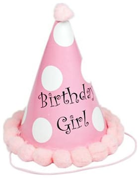 Funcart Birthday Girl Polka Dot Cone Cap