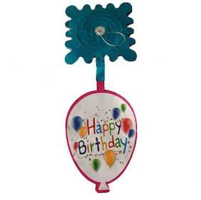 Funcart Blue Happy Birthday Balloon Streamer