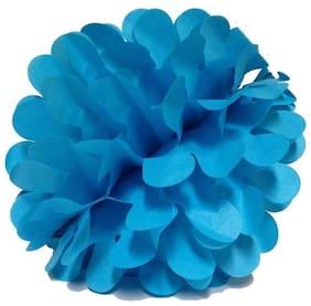 Funcart Blue Color 8 Honeycomb Pom Pom Ball  (pack of 2pcs)