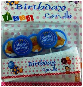 Funcart BLUE BEAR HAPPY BIRTH DAY CANDLE