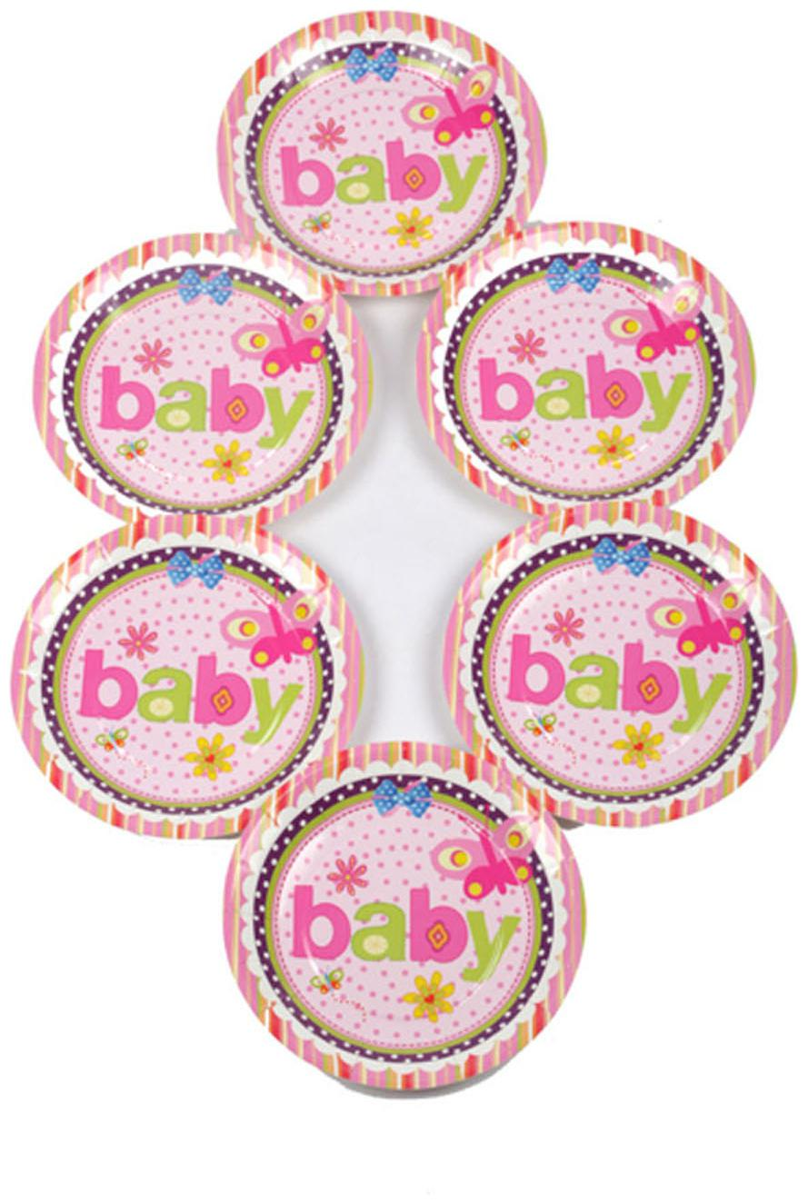 Funcart Butterfly Baby Theme Paper Plate by Funcart