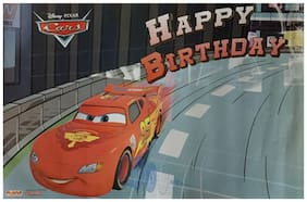 Funcart Cars Happy Birthday Paper Poster  (2pcs/pack)