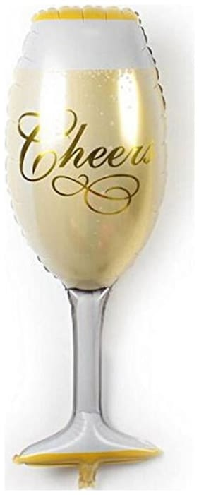 Funcart Cheers Champagne Glass Foil Balloon